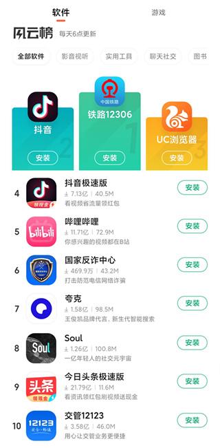 小米应用商店App排行榜2021前十名